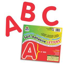 4 Self-Adhesive Letters Red By Pacon