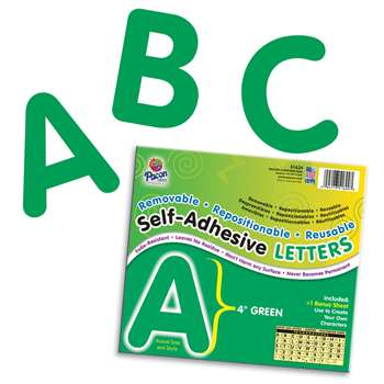 4 Self-Adhesive Letters Green By Pacon