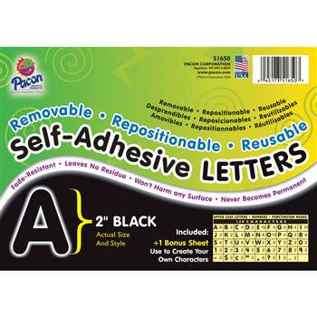 2 Self-Adhesive Letters Black By Pacon
