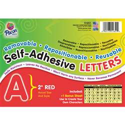 2 Self-Adhesive Letters Red By Pacon