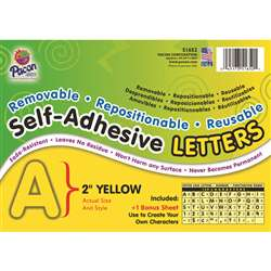 2 Self-Adhesive Letters Yellow By Pacon