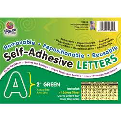 2 Self-Adhesive Letters Green By Pacon