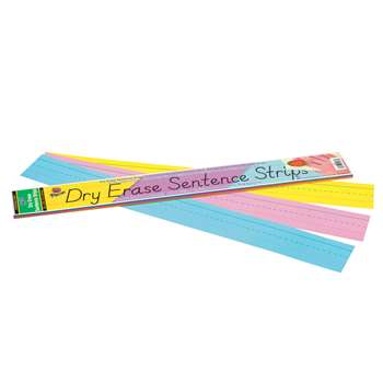 Dry Erase Sentence Strips Assorted 3 X 24 By Pacon