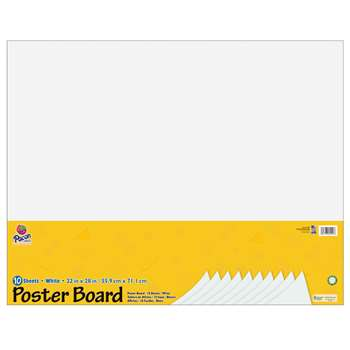 White Poster Board 22X28 10 Sheets By Pacon