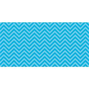 Fadeless 48X50 Aqua Chevron Design Roll, PAC55825