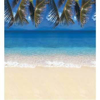 Fadeless Designs 48 X 50 Boxed Tropical Beach By Pacon