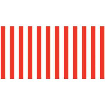 Fadeless 48X50 Red & Wht Classic Stripes Design Ro, PAC57615
