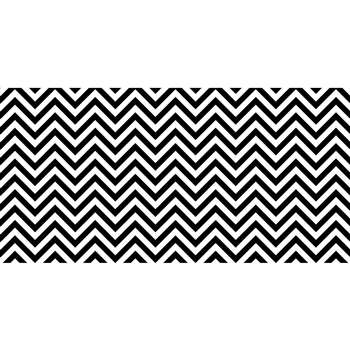 Fadeless 48X50Ft B&W Chevron Design Roll, PAC57715