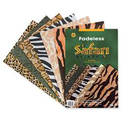 Fadeless Embossed Safari 24 Sht 12 X 18 Assorted Prints By Pacon