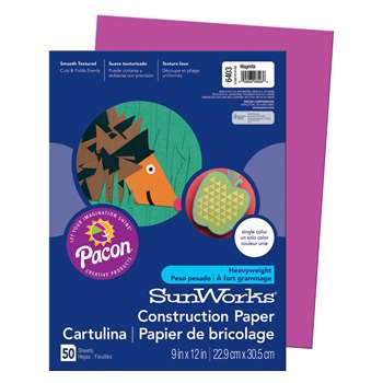 Construction Paper Magenta 9X12 By Pacon