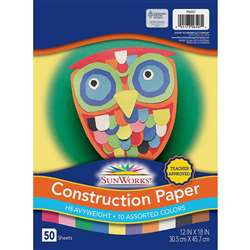 Construction Paper Assorted 12X18 By Pacon