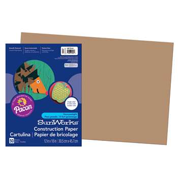 Construction Paper Lite Brown 12X18 By Pacon