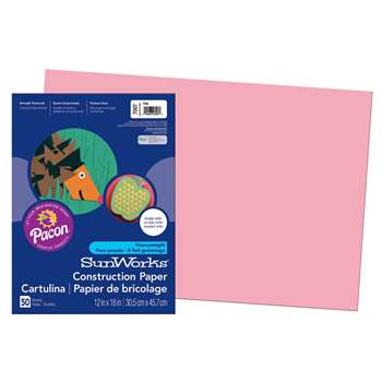 Construction Paper Pink 12X18 By Pacon