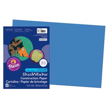 Construction Paper Blue 12X18 By Pacon