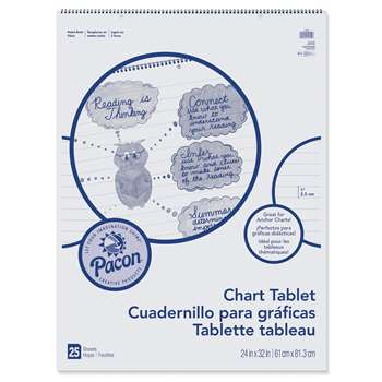 "Chart Tblt 24X32"" 1 Ruled 25 Ct By Pacon"