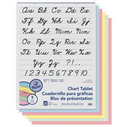 1 Ruled Cursive Cover 25 Ct 24 In X 32 In Assorted By Pacon