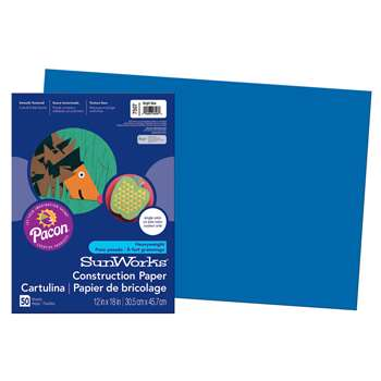 Sunworks Bright Blue 12X18 Construction Paper By Pacon