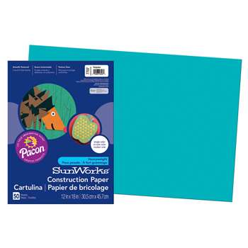 Construction Paper Turquoise 12X18 By Pacon