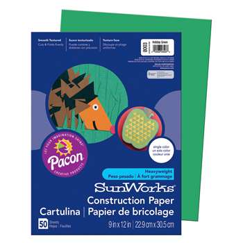 Construction Paper Holiday Grn 9X12 By Pacon