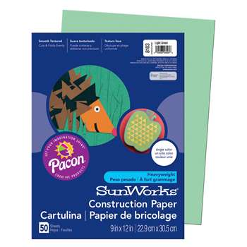 Construction Paper Light Grn 9X12 By Pacon