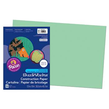 Construction Paper Light Grn 12X18 By Pacon