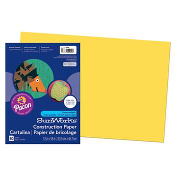 Construction Paper Yellow 12X18 By Pacon