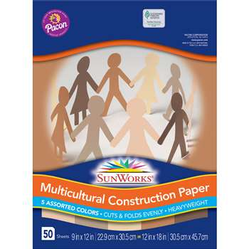 Multicultural Construction Ppr 9X12 By Pacon