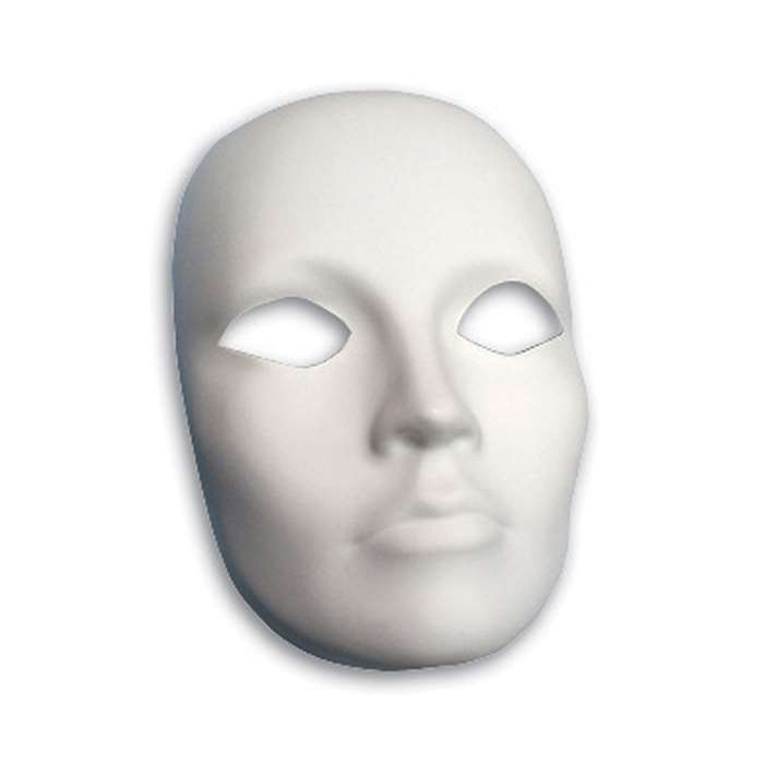 Plastic Mask Female Face, PACAC4201