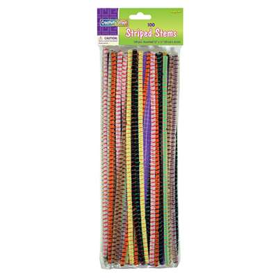 Striped Stems Assrtd Colors 100 Pcs, PACAC716001