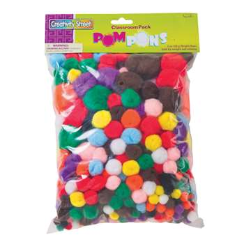 Pom Pons Class Pack Asst Colors 300Pc, PACAC815001