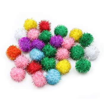 33Mm Glitter Poms Assortment 40 Pcs, PACAC81533