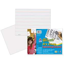 Gowrite Dry Erase Learning Boards Non Adhesive 8-1/4X11 30Pk By Pacon