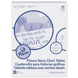 "Chart Tablet 24X32 1.5"" Ruled Picure Story, PACMMK07430"