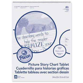 "Chart Tablet 24X32 15"" Ruled Picure Story, PACMMK07430"