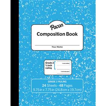 "Marble Composition Book Gr 2 Blue 3/4"" Ruled with, PACMMK37138"