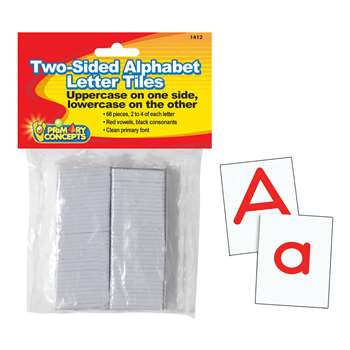 Shop Two-Sided Alphabet Letter Tiles - Pc-1412 By Primary Concepts