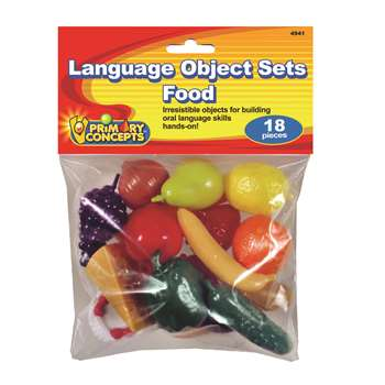 Language Object Sets Food, PC-4941