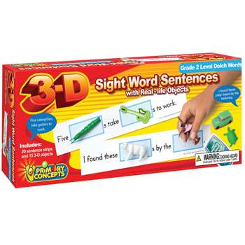 3-D Sight Word Sentences Grade 2 Level Dolch Words, PC-5283