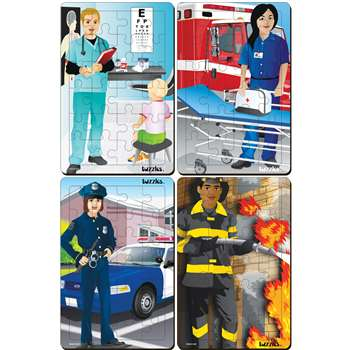 Occupations Set Of 4 Tray Puzzles, PPAFS2X3029