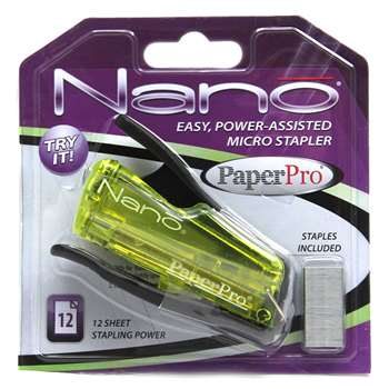 Paperpro Nano Miniature Stapler Gray By Paper Pro Accentra
