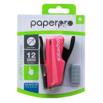 Paperpro Nano Miniature Stapler Pink By Paper Pro Accentra