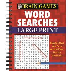 Brain Games Large Print Word Searches By Publications International Ltd