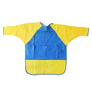 Kinder Smocks Long Sleeves Ages 6-8 W/ Pocket By Peerless Plastics