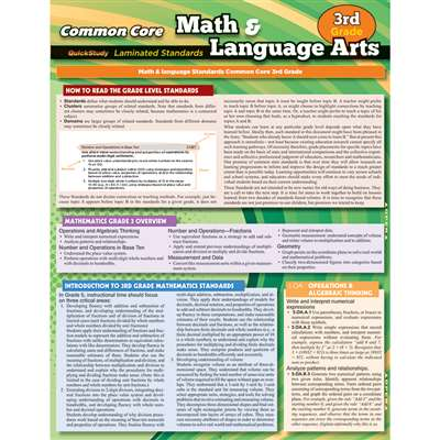 Common Core Gr 3 Math & Language Arts Standards, QS-222842