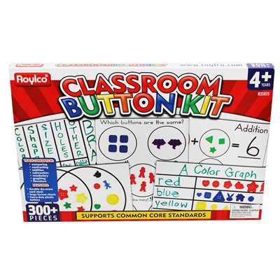 Classroom Button Kit By Roylco