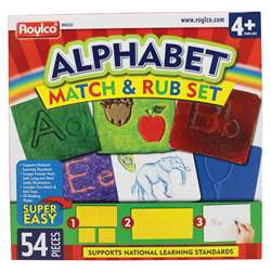Shop Alphabet Match & Rub Set - R-48232 By Roylco