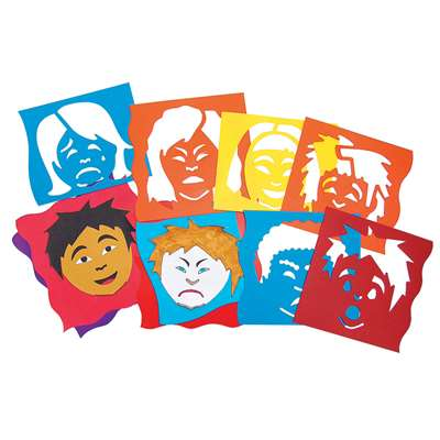 Mix & Match Emotion Stencils 6Pk By Roylco
