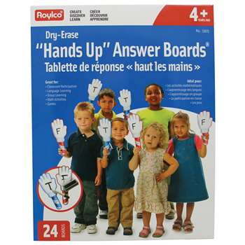 Hands Up Dry Erase Answer Boards By Roylco