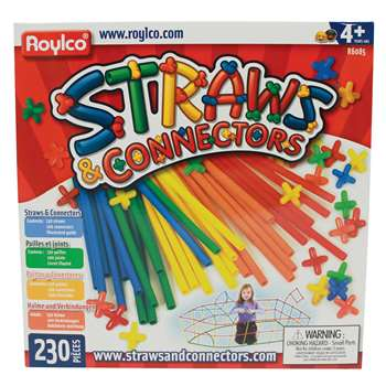Straws & Connectors 230 Pieces By Roylco