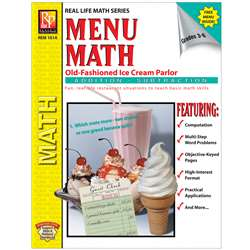 Menu Math Ice Cream Parlor Book-1 Ream Parlor Book 1-Add & Subtract By Remedia Publications